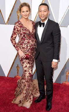 2016 Oscars, Academy Awards, Arrivals, Chrissy Teigen, John Legend, Couples