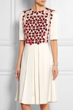 Alexander McQueen-Embellished crepe dress