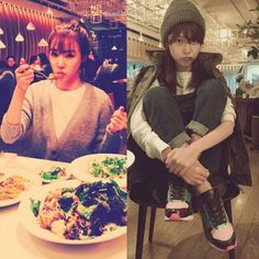[141214] Tiffany son Instagram güncellemesinde ailesi ile yemeğe çıktığını belirtmişti. Öyle görünüyor ki bu işin ehli Shikshin Sooyoung'dan tavsiye almış  Neden çok şaşırdık acaba~