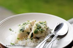 Basa Fillet baked in Garlic and Butter served on coconut rice. This was AMAZING!!!! The coconut rice measurements is wrong - it should read for every cup of rice use 1/2c coconut milk & 1-1/2c water! DEF making this again!! KJH :)