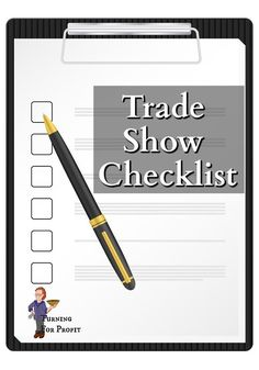 There are so many things to bring when you are at an event, trying to sell your products, or just give out information. I've made a printable checklist to help you to remember all of the little details that make participating in a trade show so much easier. Wood Turning Projects, Woodturning, Craft Sale, Trade Show, Just Giving, Craft Fairs, Printables, Things To Sell, Products