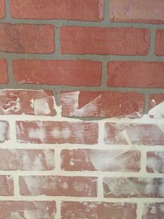 How to Make a DIY Faux Brick Accent Wall Tutorial - With Whitewash! wall treatment DIY Faux Brick Accent Wall Tutorial - With Whitewash! Brick Accent Walls, Accent Walls In Living Room, Accent Wall Bedroom, Brick Walls, Master Bedroom, Faux Brick Panels, Brick Paneling, Brick Flooring, Faux Brick Backsplash