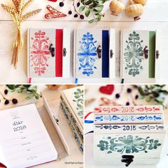 handmade diary with folk ornaments (slovakia)