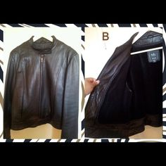 Exclusive Plus Posh Party Size 2x % Genuine Leather! Size 2x Motorcycle Looking Jacket. the color is black and comes with removable inside lining. Goes just little above the waist. Jackets & Coats