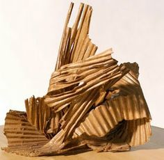 Corrugated cardboard sculpture