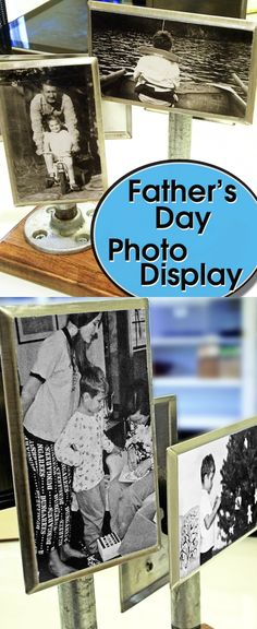 If you need a unique gift for Father's Day, this hardware store photo display fits the bill. It's so industrial looking, it works with any decor!