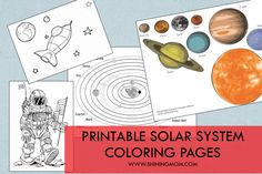 A roundup of printable solar system coloring pages!