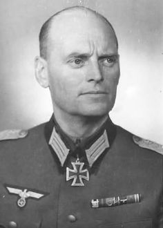 Generalmajor Hermann Schulte-Heuthaus, the last commander of the Brandenburg Division (he commanded it from 20 October 1944 to 9 May 1945). He was a highly decorated officer and was awarded the Knight's Cross of the Iron Cross on 23 January 1942, while commander of the 25th Reconnaissance (Motorcycle) Battalion, which, as part of the 25th Motorized Infantry Division, was involved in action in the southern sector of the Eastern Front in 1941.