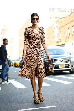 New York Fashion Week Street Style Leopard Print Dress Animal Print Outfits f552a7e2a