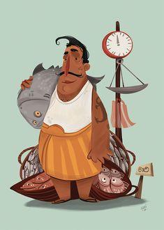 Isuri Merenchi Hewage is a freelance illustrator and designer based in Colombo, Sri Lanka. via Illustration Age Isuri Merenchi's website Indian Illustration, Illustration Art Drawing, Character Illustration, Graphic Design Illustration, Character Design Cartoon, Character Design Inspiration, Character Art, Inspirational Artwork, Pixar