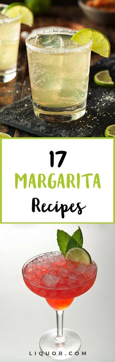 Our favorite and most popular #cocktail recipe is the margarita! Find our 17 other favorite #margarita #recipes here! #cocktailrecipes