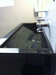Long sink for bathroom