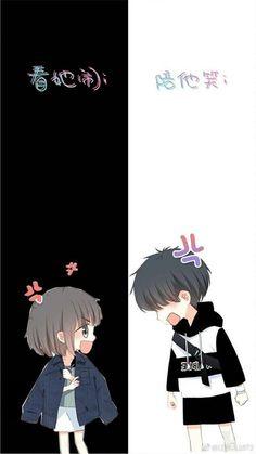 28 New Ideas Wallpaper Desenho Casal Cute Chibi Couple, Cute Couple Cartoon, Cute Couple Art, Anime Love Couple, Cute Couple Drawings, Anime Couples Drawings, Anime Couples Manga, Fanarts Anime, Anime Chibi