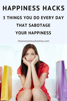 If you find yourself in a bad mood more often than you'd like, you may be falling victim to some pretty sneaky influences. Learn three easy happiness hacks to help you flip the most common mistakes that sabotage your happiness. Self Development, Personal Development, Tips To Be Happy, Understanding Anxiety, Positive Mindset, Positive Feelings, Positive Affirmations, All Family, Bad Mood