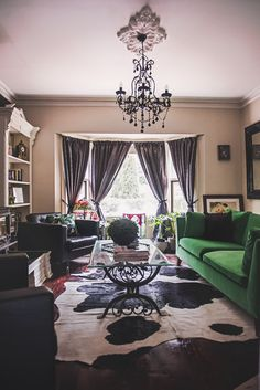 We splurged on the Ikea Green Velvet Stockholm Sofa and landskrona leather armchairs. I have wanted this for so long and am so happy with the end result! #ikea #green #velvet #sofa #living #room #design
