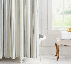 Darien Stripe Shower Curtain #potterybarn