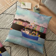 Large Cushions, Weird Holidays, Mixed Media Painting, Meaningful Gifts, Pillow Design, Floor Pillows, Gift Wrapping, Flooring, Gift Wrapping Paper