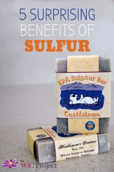 Did you know sulfur is critical to your body functioning properly? From stronger hair to clearer skin, here are 5 Surprising Benefits of Sulfur. Sulfur Soap, Organic Skin Care, Natural Skin Care, Natural Face, Natural Makeup, Natural Beauty