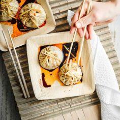 Pan-fried soup dumplings (sheng jian bao)