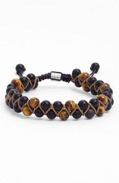 Zack Double Beaded Hemp Bracelet | Nordstrom