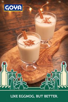 Christmas Cocktails, Holiday Drinks, Christmas Desserts, Holiday Treats, Holiday Recipes, Coquito Drink, Coquito Recipe, Eggnog Recipe, Cocktail Drinks