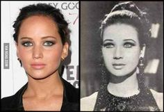 Jennifer Lawrence looks a lot like her grandmother, Zebeida Tharwat.