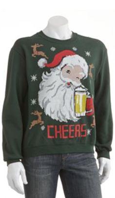Santa Cheers Ugly Christmas Sweater http://rstyle.me/n/dgtnxnyg6