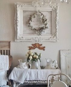 So the truth is that I always have at least one wreath in the dining room all year. If you lean toward country style (as I o...