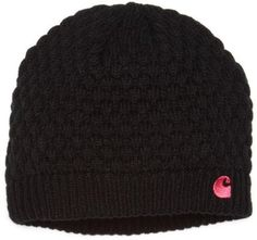 Carhartt Women's Embroidered C Knit Hat, Black, One Size | Amazon