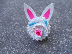 Duct tape bunny rose