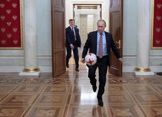 Vladimir Putin met in the Kremlin with FIFA President Gianni Infantino, who is in Russia to attend the draw for the 2017 FIFA Confederations Cup in Kazan on November Deputy Prime Minister Vitaly Mutko also attended the meeting. Wladimir Putin, World Cup Russia 2018, Deep Art, Normal Guys, Great Leaders, Illuminati, Presidents, My Photos, Funny Pictures