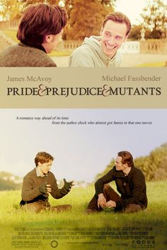 LOLOLOL. James McAvoy as Elizabeth and Michael Fassbender as Mr. Darcy? This may be my favorite Pride and Prejudice adaptation.