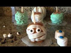 CREEPY CARAMEL APPLES tutorial by Mr. Otter Art Studio. How about some creative fun this HALLOWEEN?