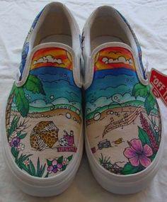"Painted Shoes ""Hawaii/animal print loving Grad"" - CraftStylish"