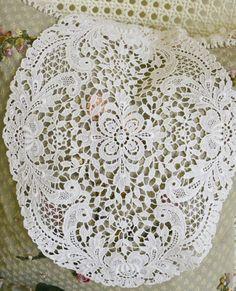 Stunning Vintage Oval Schiffli Lace Doily by Jenneliserose on Etsy