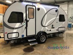 New 2020 Forest River RV R Pod RP-190 Travel Trailer at Quietwoods RV | Neenah, WI | #20424 Small Camping Trailer, Small Camper Trailers, Camping Pod, Small Campers, Pod Camper, Truck Bed Camper, Forest River Travel Trailer, Forest River Rv, Runaway Camper