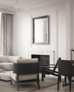 Apartment in Copenhagen on Behance Home Decor Styles, Cheap Home Decor, Modern Luxury, Modern Interior, Apartment Interior Design, Home And Living, Living Room, Luxury Furniture, Home