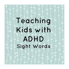 It's important to understand that no matter what year level you are teaching, you will be may be faced with children with increased needs. This site is helpful because it demonstrated ways of teaching children with ADHD -Carla