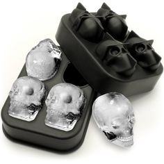 Freeze plain skull of ice for whiskey or cocktails. Tray size: x x Skull size approx. Ice Cube Molds, Ice Cube Trays, Skull Mold, Whiskey Cocktails, Death Metal, Just Giving, Silicone Molds, Gadgets, Shapes