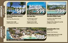Jamaica Vacation Specials with Air from Atlanta