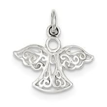 Filigree Angel Charm in Sterling Silver