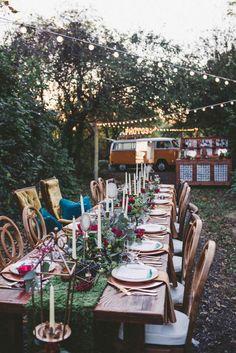 Outdoor Boho Wedding Reception Our Favorite Instagram Posts 10 28 16 Weddingday Magazine
