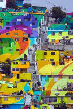 Streetart: City Mural by Germen Crew in Palmitas // Mexico