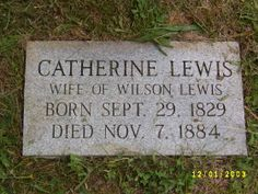 Catherine Collier Lewis (1829 - 1884) - Find A Grave Photos