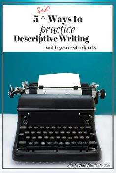 These 5 descriptive writing activities will give your students practice writing with sensory details, vivid verbs, and strong descriptions.  You can choose one a week to reinforce writing skills.  These prompts will help strengthen writing skills -- perfect for mini lesson activity, writing workshop, or even a sub lesson plans.  Free mentor text analysis activity included - so you can start teaching this today!