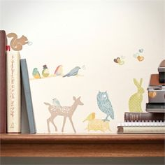 @rosenberryrooms is offering $20 OFF your purchase! Share the news and save!  Mini Forest Critters Earthy Fabric Wall Decals #rosenberryrooms