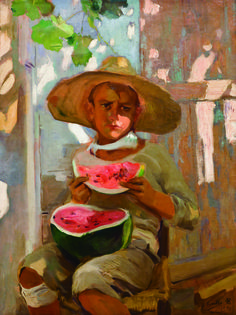 El niño de la sandía. ca.1916 de Joaquín Sorolla