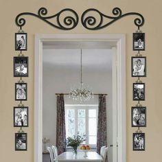 A creative and beautiful way to decorate a door way/ frame on a plain entry way.