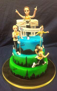 Marathon runners cake