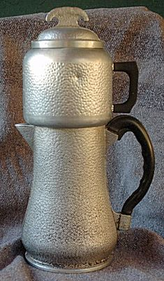 VINTAGE GUARDIAN WARE HAMMERED ALUMINUM COFFEE   POT ( drip). Click on the image for more information.